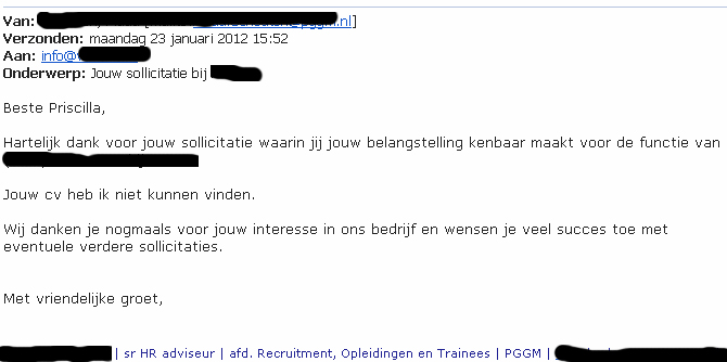 Veel succes bij het vinden van een passende baan!: januari 2012