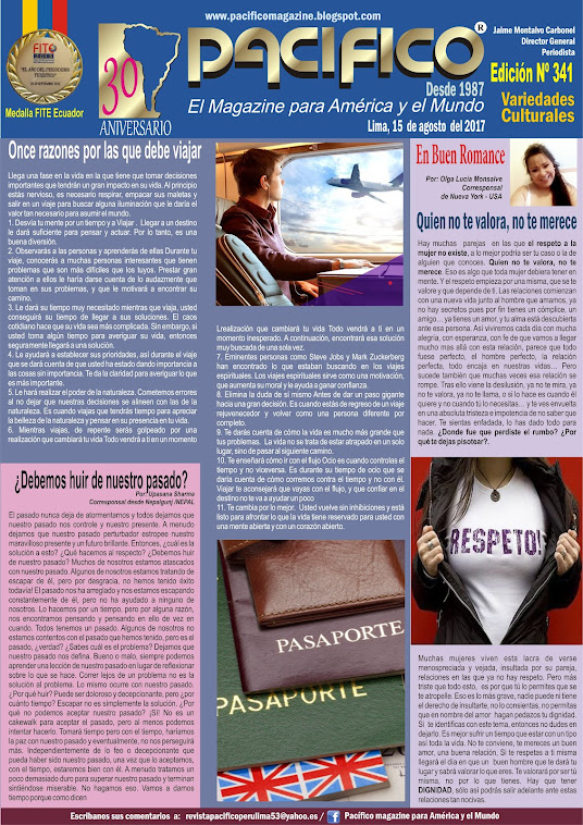 Revista Pacífico Nº 341 Variedades Culturales
