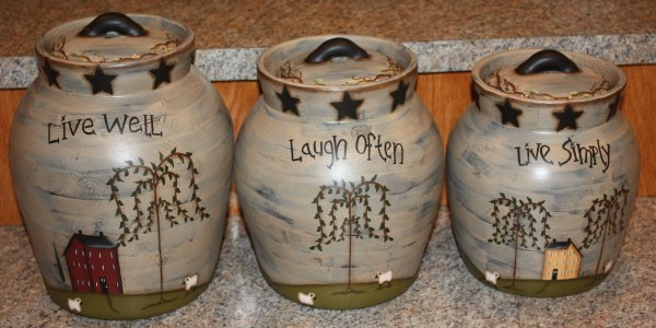 adorable country classics primitive canisters personalized