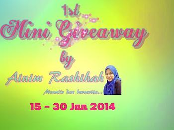 1st Mini Giveaway by Ainim Rashihah
