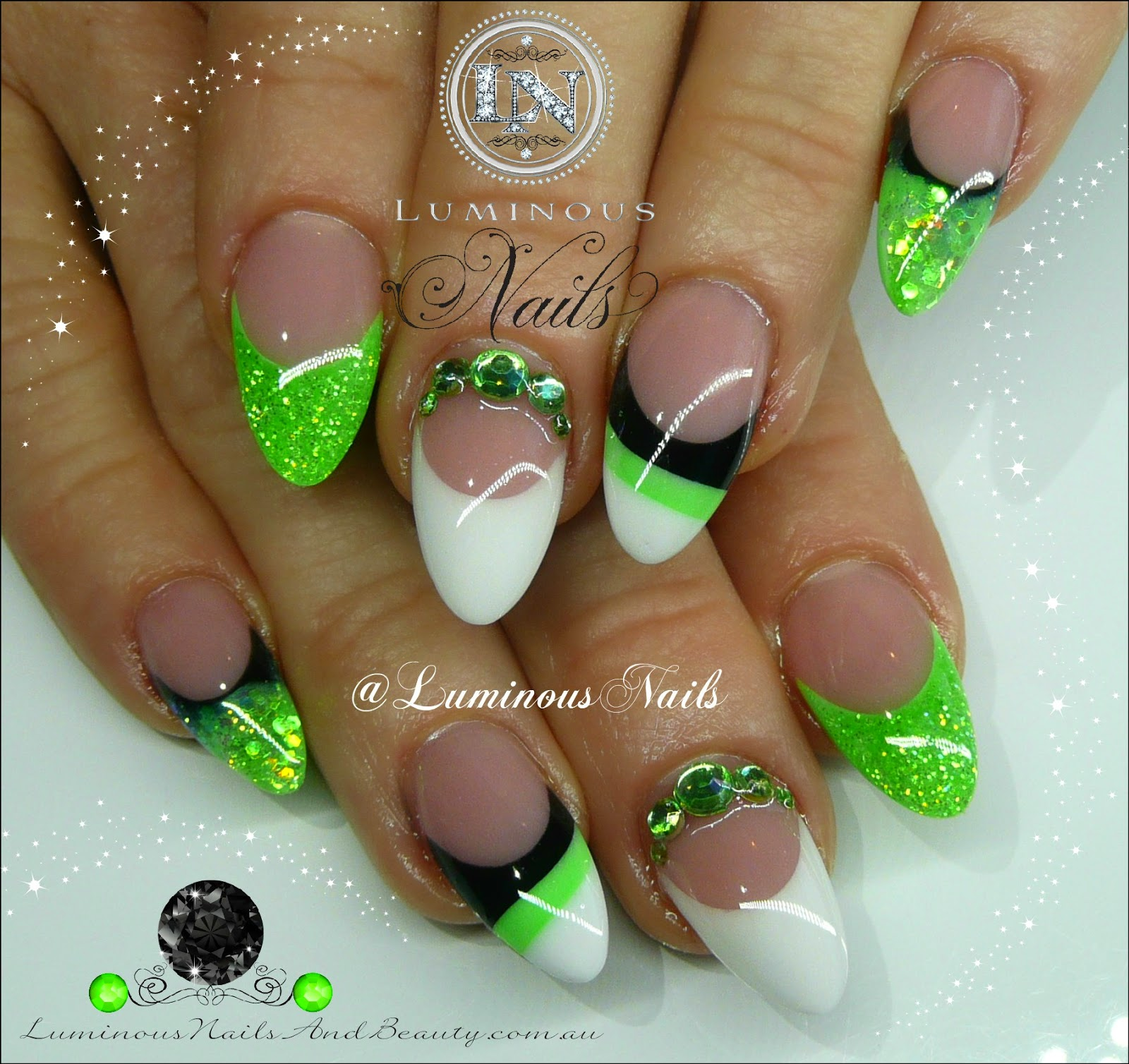 Green acrylic nail designs ledufa stunning green acrylic nail designs 13 exactly inspiration article prinsesfo Gallery