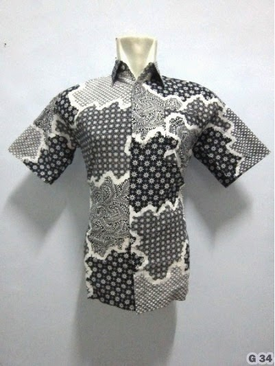 Kemeja Batik Pria Lengan Pendek Murah