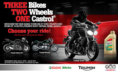 Three Bikes, Two Wheels, One Castrol