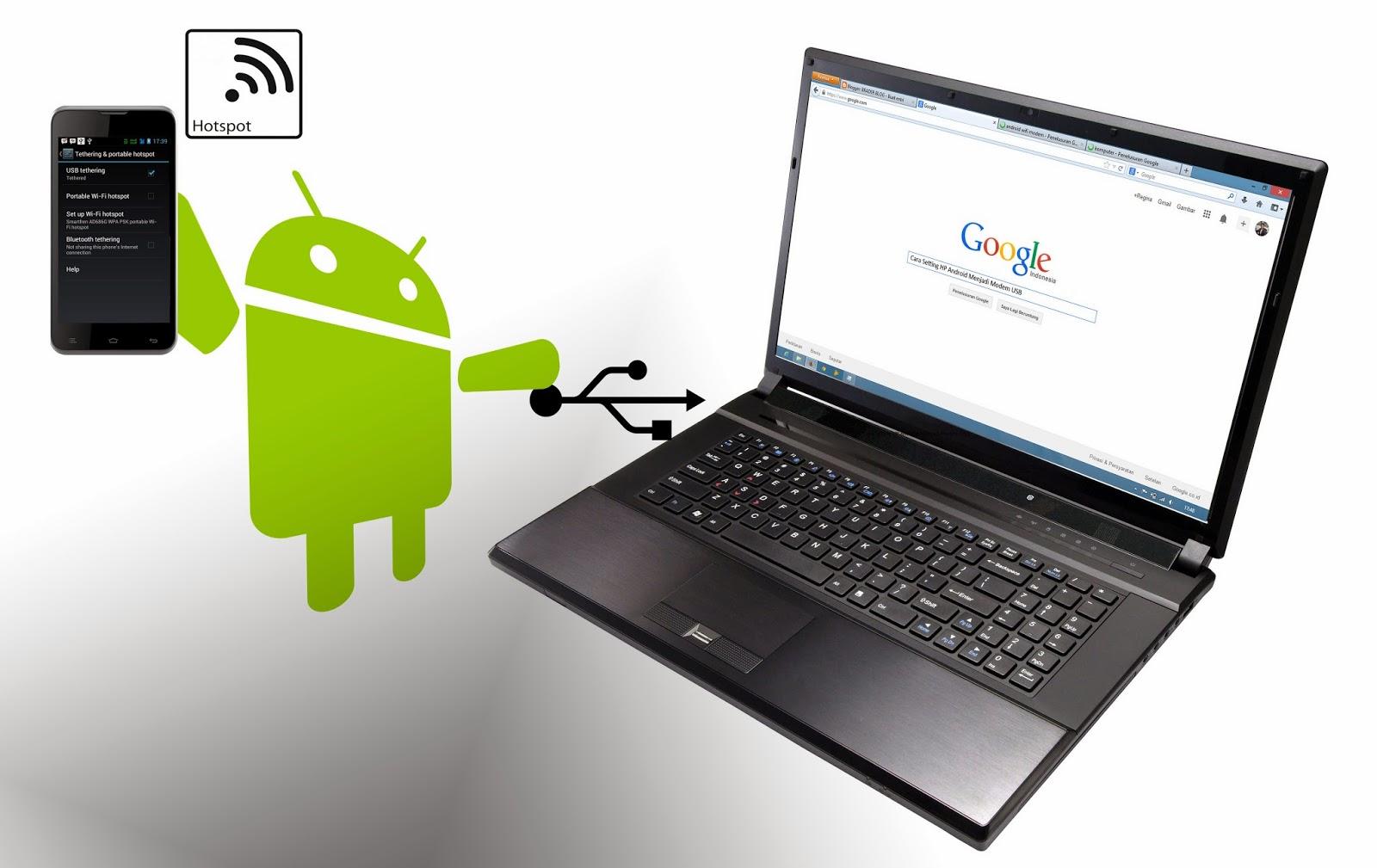 Setting HP Android Menjadi Hotspot dan Modem USB