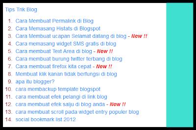 Membuat daftar isi otomatis di blogspot