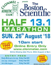 Clonmel Half-Marathon...Sun 26th Aug 2018