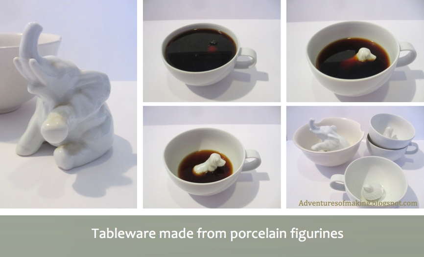 from ugly porcelain figurines to stylish tableware & The Adventures of Making: from ugly porcelain figurines to stylish ...
