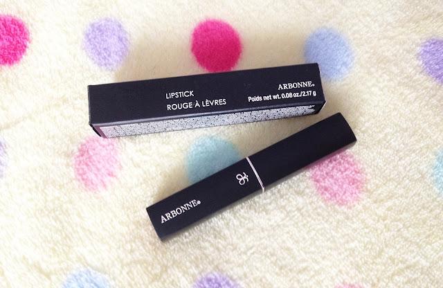 arbonne cosmetics lipstick rouge a levres jam confiture swatch blog review