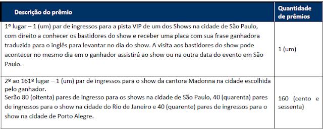 """Concurso Cultural """"Madonna Eu Tô Aqui"""""""