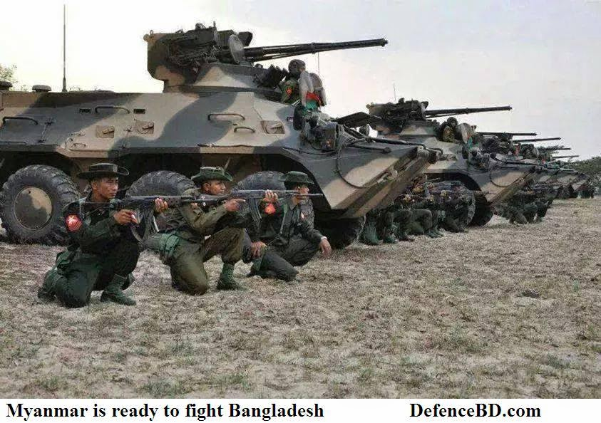 Myanmar is ready to confront Bangladesh
