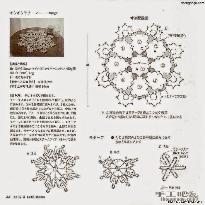 Patrones de carpeta de estrellas al crochet todo crochet - Esquema punto estrella crochet ...
