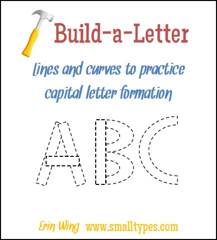 build your own letters classroom freebies