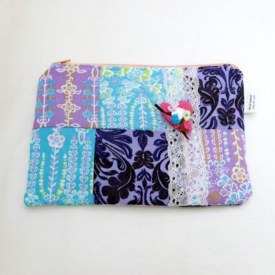 Fabric cosmetics bag patchwork