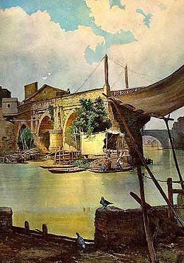 Vladimir Rosulescu - Istorie: ROMA - PODURILE DE PESTE TIBRU SI DE PESTE  ANIENUS XXXX