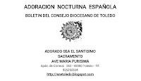 BOLETINES ADORACION NOCTURNA DIÓCESIS DE TOLEDO