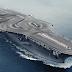 BMW M4 drifteando en un portaaviones