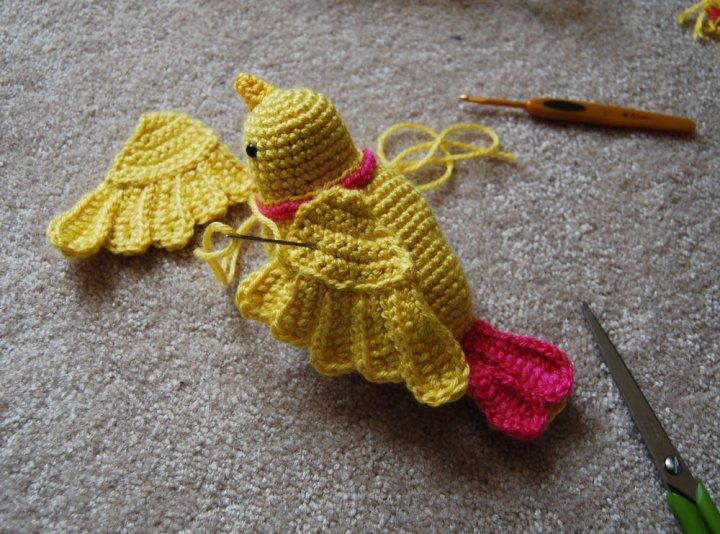 Вязание крючком для птиц 907