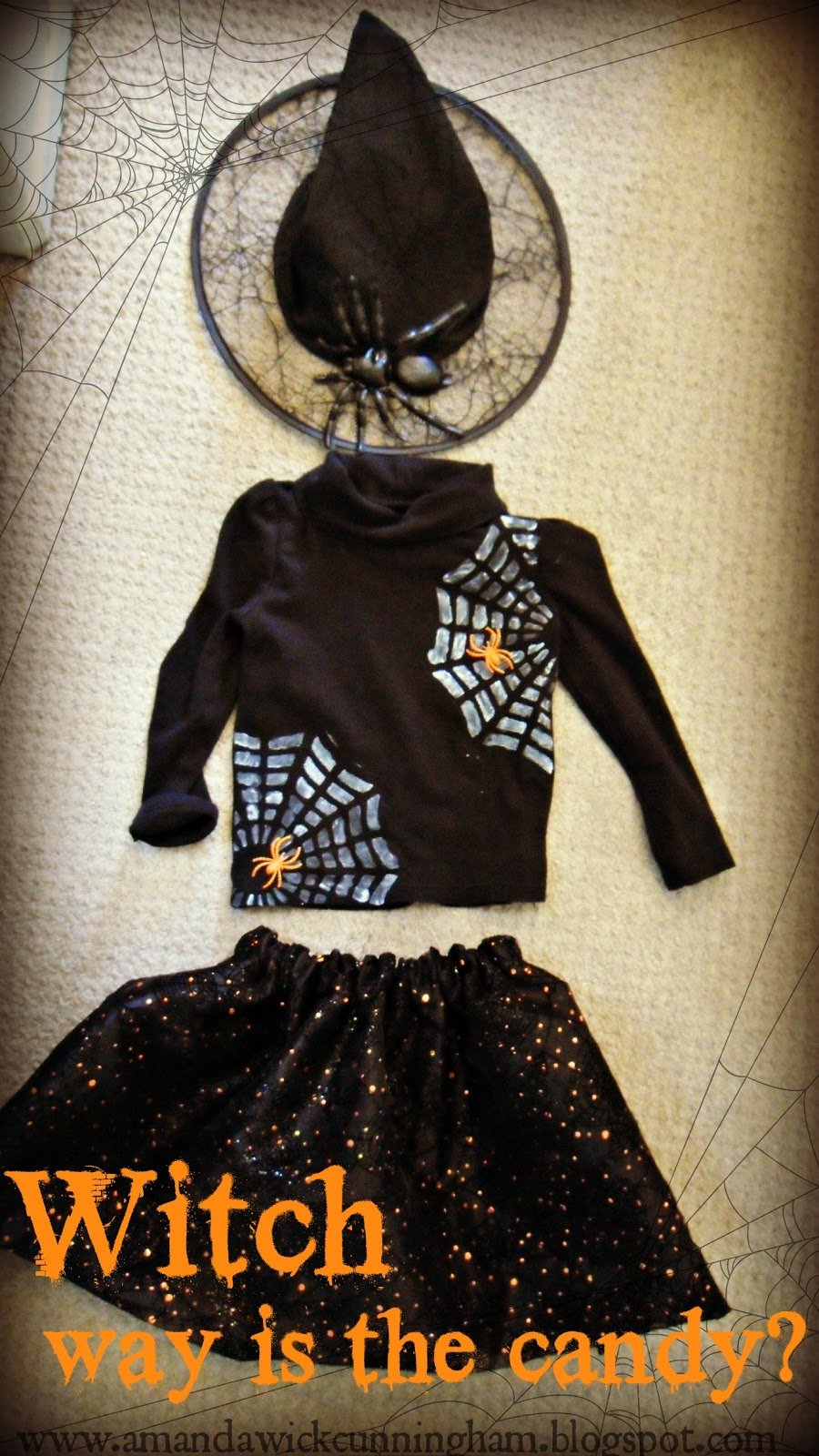 Kaleidoscope of Colors: DIY Spider Witch Halloween Kids Costume