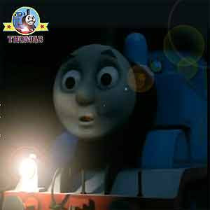Swiftly Thomas train puffed all the way back through the dark Misty Island railway tunnel to Sodor