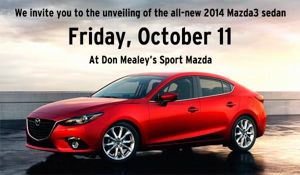 2014 Mazda3 Sedan Unveiling At Don Mealeyu0027s Sport Mazda
