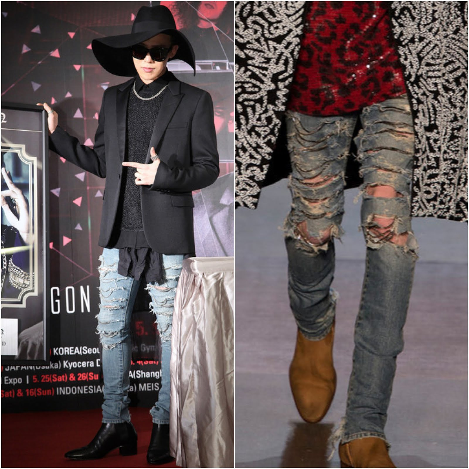 00O00 Menswear Blog http://00O00.blogspot.com G-Dragon in Saint Laurent - World Tour Taiwan Promo [GD权志龙台北宣传个唱]