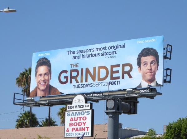 The Grinder series premiere billboard