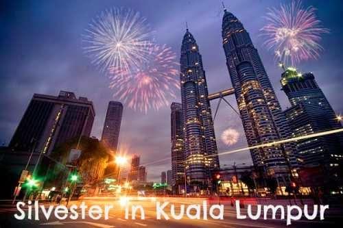 Silvester in Kuala Lumpur, Petronas Towers und Feuerwerk