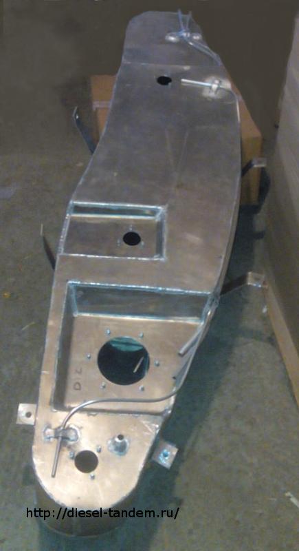 алюминиевый бак на Паджеро 3