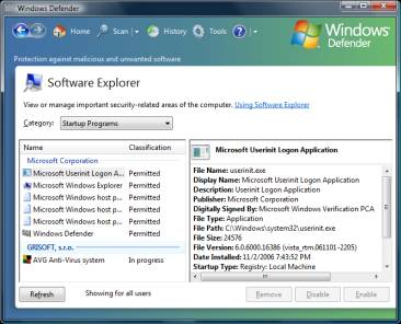 how to set startup programs in windows xp