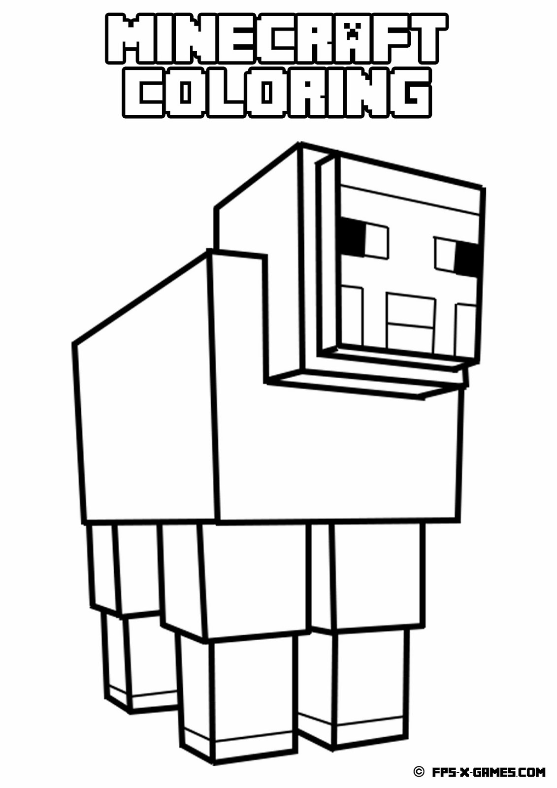 minecraft coloring sheep jpg