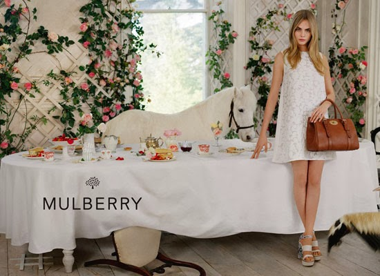 Cara Delevingne in Mulberry's Spring/Summer 2014 Ad Campaign