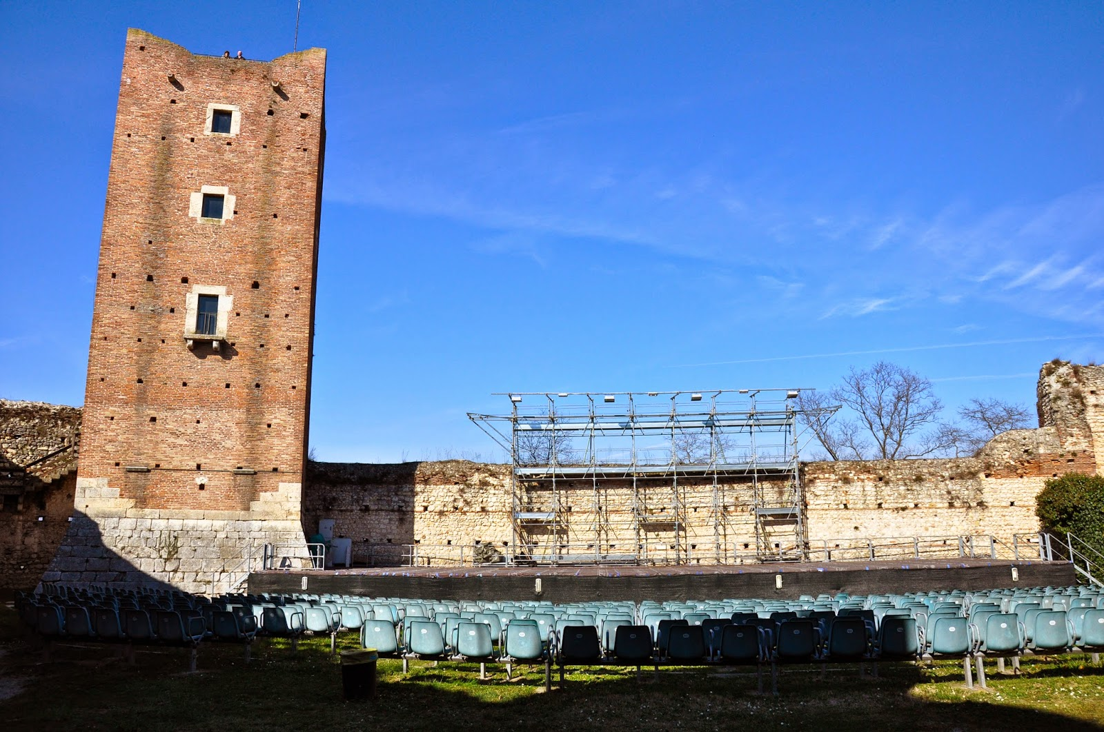 The stage inside Romeo's Castle, Montecchio Maggiore, Veneto