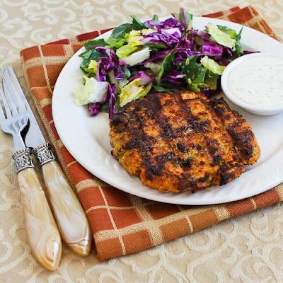 Salmon Burgers with Caper Mayonnaise [from KalynsKitchen.com]