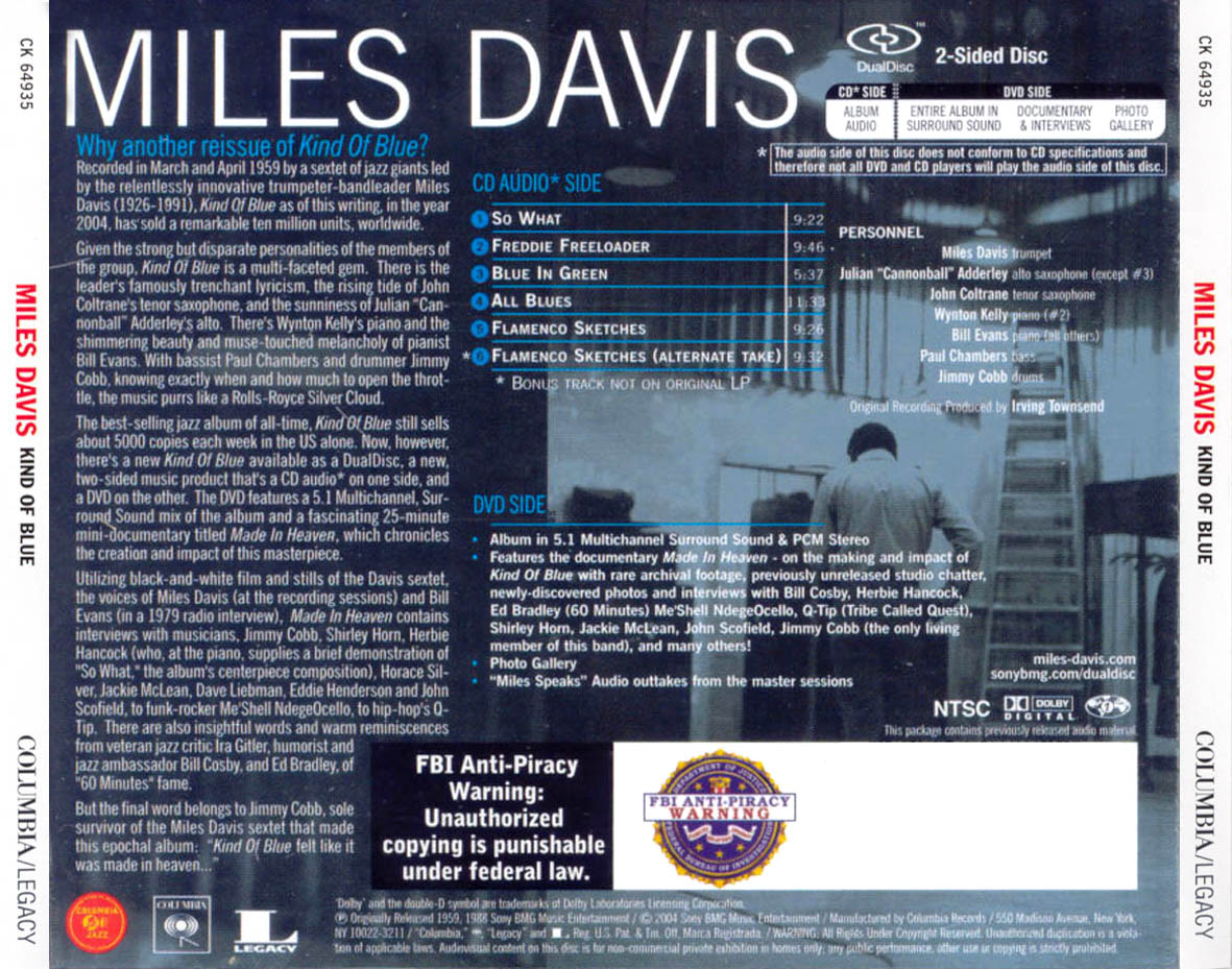 analysis of miles davis kind of blue Category: jazz recordings analysis analysis: kind of blue (1959) – miles davis the best-selling jazz record of all time is – naturally – a classic.