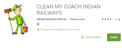 Indian Railways Clean My Coach Android App