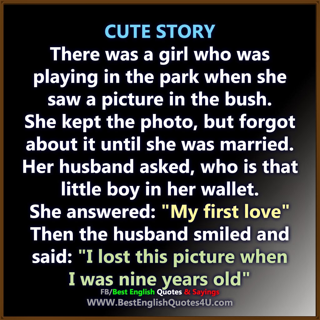 Quotes About Stories Cute Love Story  Best'english'quotes'&'sayings