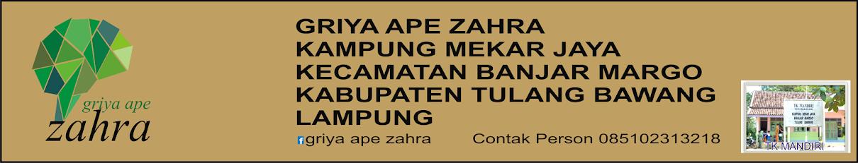ZAHRA GRIYA APE
