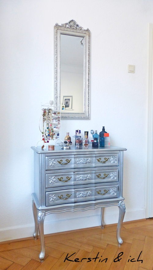 Kommode Möbel Chippendale silber DIY