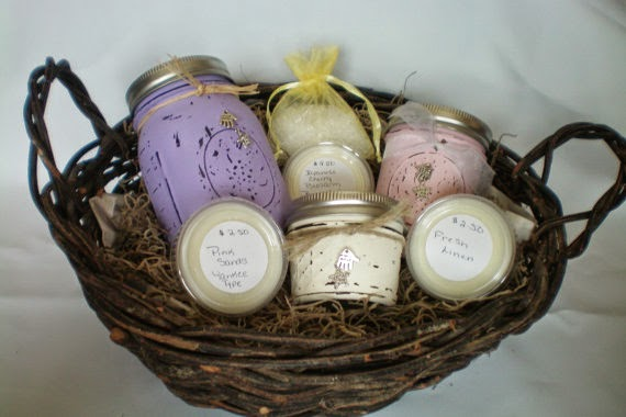 custom candle gift baskets