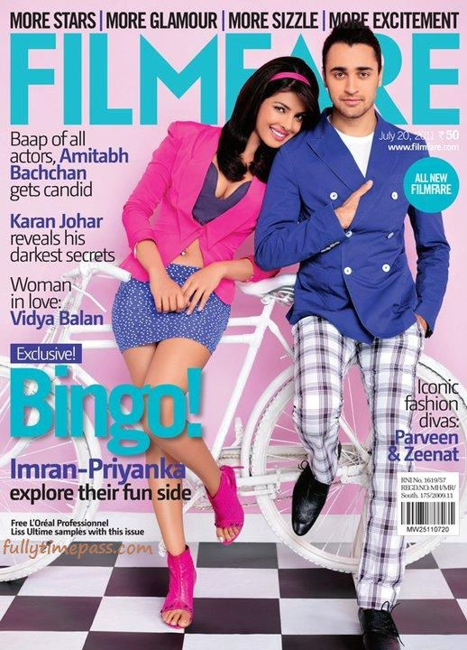 Priyanka Imran on the cover of Filmfare Magazine July 2011