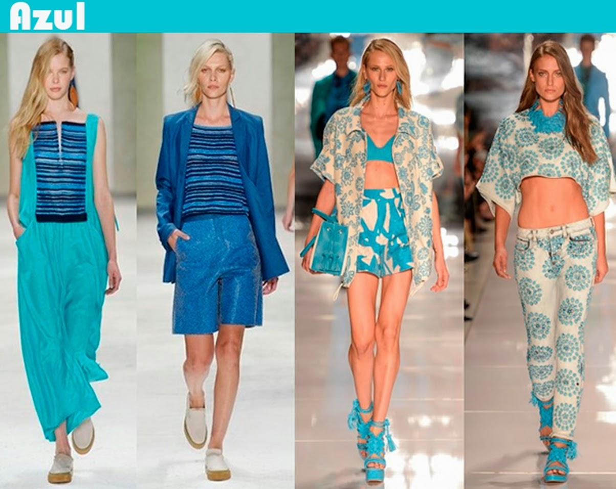 Tendências Primavera Verão 2015 cor azul