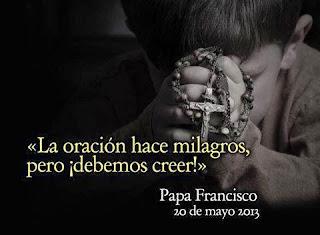 La oración hace milagros