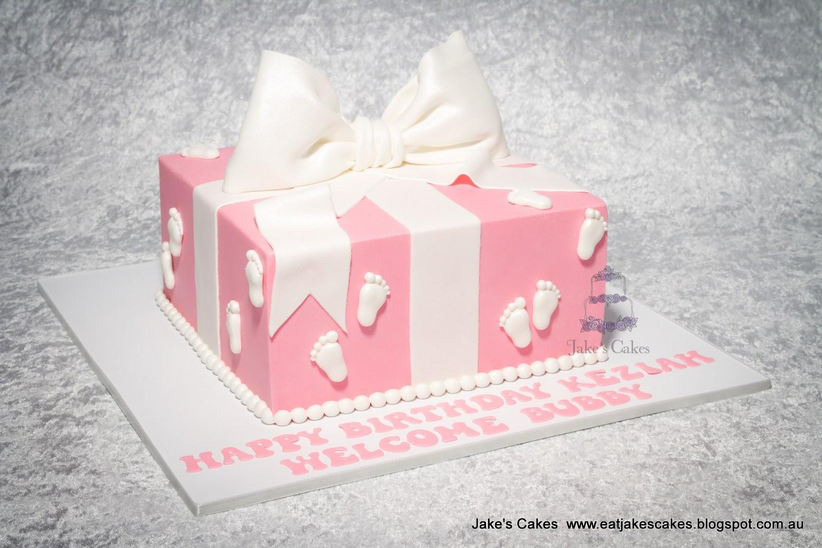 Jakes Cakes Baby Shower Birthday Present Cake