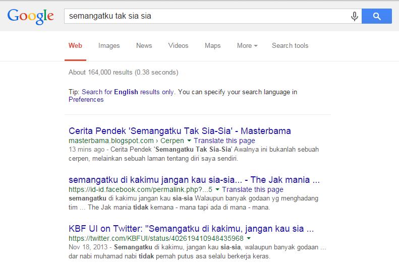 Cerpen Masuk Google