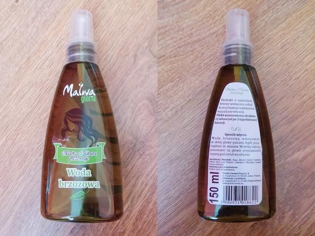malwa gloria woda brzozowa do włosów nowa wersja opakowanie
