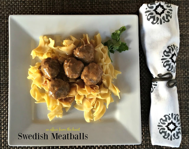 Featured Recipe | Swedish Meatballs from An Affair From the Heart #SecretRecipeClub #recipe #meatballs #maindish
