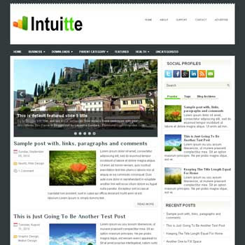 Intuitte blog template. magazine blogger template style. magazine style template blogspot