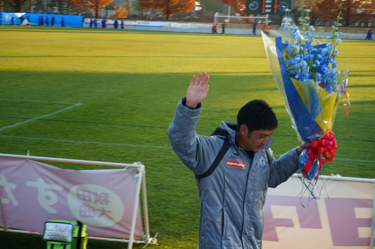 松田選手への花束
