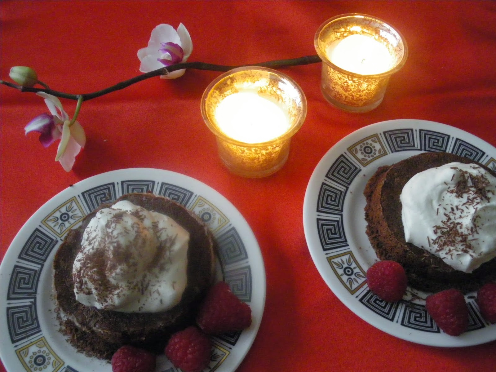 ... : Flourless Dark Chocolate Mini-Soufflés with Grand Marnier Cream
