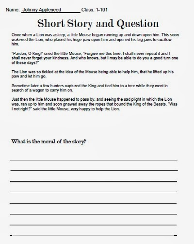 My Personal Expressions: Write a Short Story | Worksheet ...